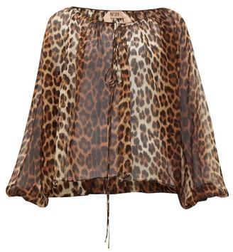 No.21 No. 21 - Leopard-print Silk Blouse - Leopard