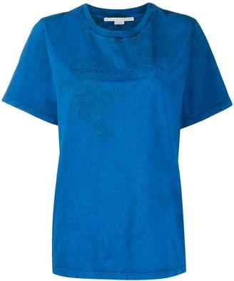 Stella McCartney embossed-logo organic-cotton T-shirt