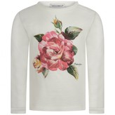 Dolce & Gabbana Dolce & GabbanaBaby Girls Ivory Rose Top