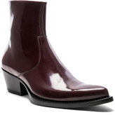 Calvin Klein Leather Tex C Boots in Red,Purple.
