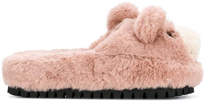 Dolce & Gabbana teddy bear slippers