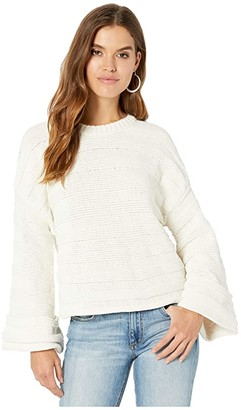 Show Me Your Mumu Tulsa Sweater (Cream Stripe Knit) Women's Clothing
