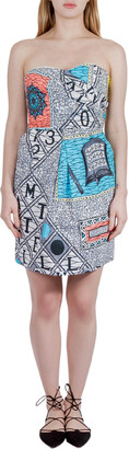 Matthew Williamson Multicolor Abstract Print Cotton Strapless Dress M