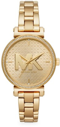Michael Kors Sofie Three-Hand Goldtone Stainless Steel Watch