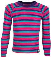 Mountain Warehouse Merino Kids Striped Pants Baselayer Zip Neck T-Shirt