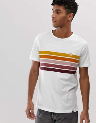 Pretty Green chest stripe t-shirt in white