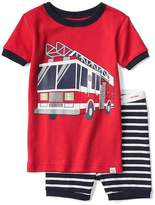 Firetruck and stripes short sleep set