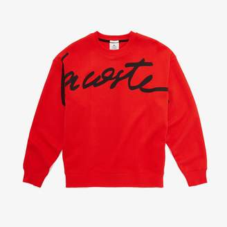 Lacoste Unisex LIVE Signature Texturized Fleece Sweatshirt