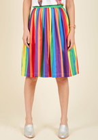 ModCloth Aspiration Creation A-Line Skirt in Vibrant in XXS