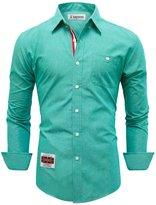 Tom's Ware Mens Classic Slim Fit Pocket Longsleeve Dress Shirt TWNEL616S-S
