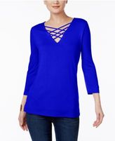 INC International Concepts Strappy V-Neck Top, Only at Macy's