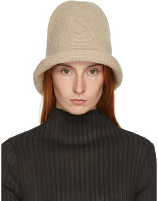 LAUREN MANOOGIAN Beige Bell Hat