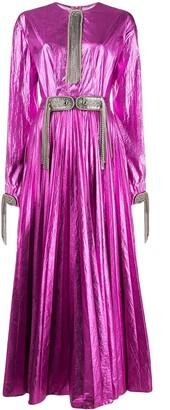 Christopher Kane Embellished Pleated Dress