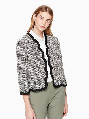 Kate Spade Scallop Tweed Jacket