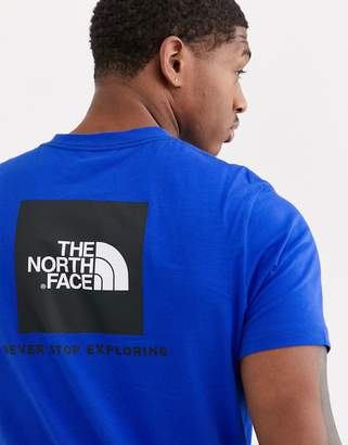 The North Face Red Box t-shirt in blue