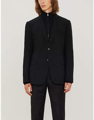 Emporio Armani Regular-fit stretch-wool blazer