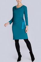 Josie Natori Moss Jersey Side Tie Cowl Dress