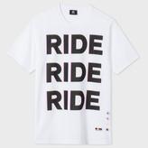 Paul Smith Men's White 'Ride' Print Organic-Cotton T-Shirt
