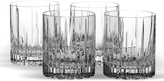 Mikasa Arctic Lights Set of 4 Crystal Double Old Fashioned Glasses