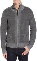 Toscano Wool Blend Zip Cardigan