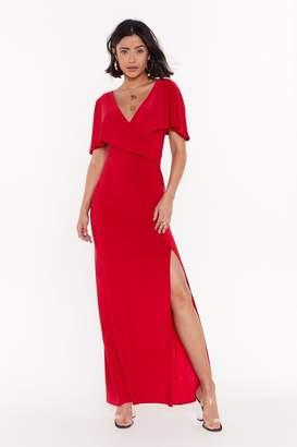 Nasty Gal Womens Seduce Me Wrap Maxi Dress - red - 4