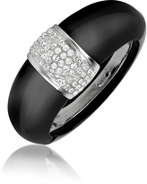 A-Z Collection Black Bangle Bracelet