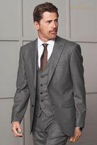 Next Light Grey Signature Textured Suit: Waistcoat