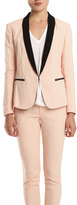 Rag & Bone Sliver Tuxedo Jacket in Blush