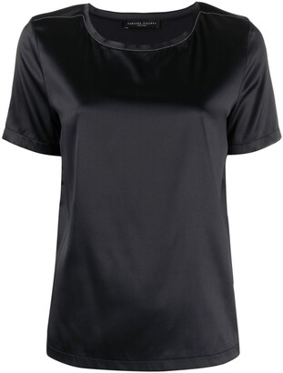 Fabiana Filippi satin-finished T-shirt
