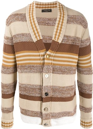 Gabriele Pasini Striped Knitted Cardigan