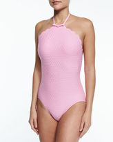Kate Spade Marina Piccola High-Neck One-Piece Swimsuit