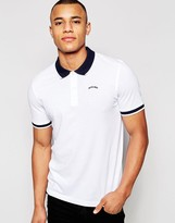 Jack and Jones Pique Polo Shirt with Contrast Collar