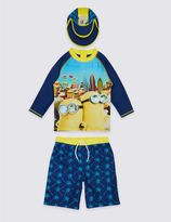 Marks and Spencer 3 Piece Despicable MeTM Minions Swimsuit (3-8 Years)