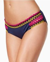 Becca Scenic Route Crochet-Trim Hipster Bikini Bottoms