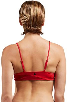 Volcom Women's Plus Size Simply Seamless V Neck Bikini Top