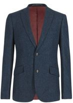 Marks and Spencer Pure New Wool Tailored Fit 2 Button Herringbone Jacket