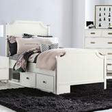 Harriet Bee Angus Panel Bed with Storage Drawer Unit, Soft White