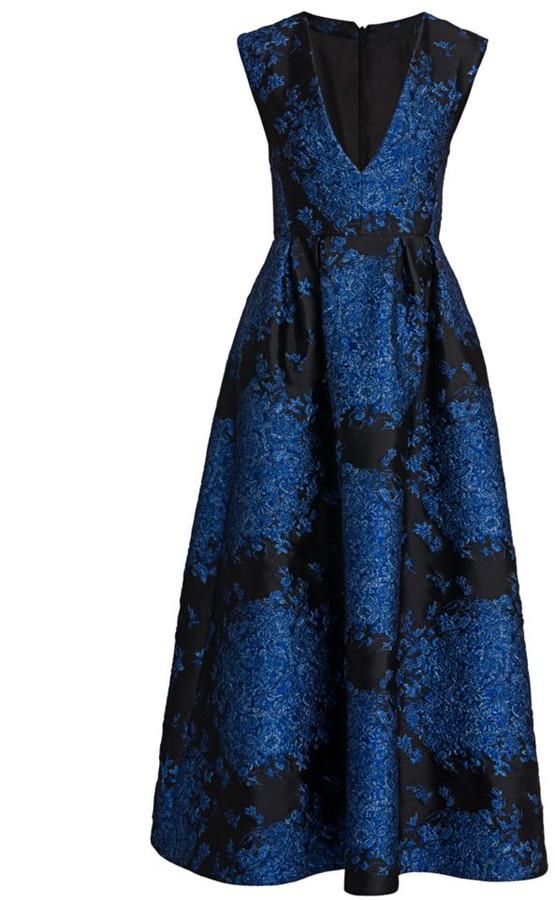 Valentino Jacquard Midi Cocktail Dress