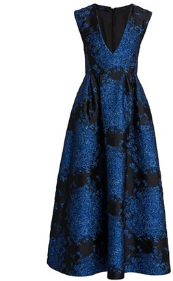 Valentino Jacquard Midi Cocktail Dress