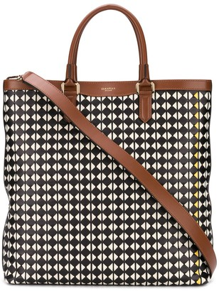 SERAPIAN Geometric Print Tote Bag