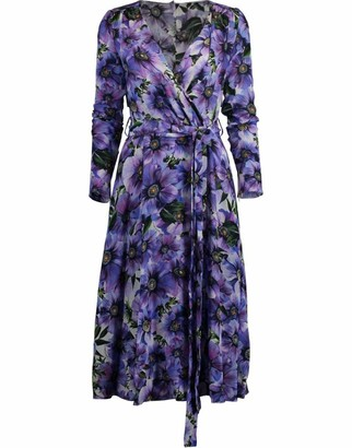 Dolce & Gabbana Floral Print Wrap Dress