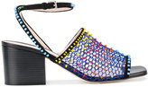 Christopher Kane beaded sandals - women - Leather/Suede - 35