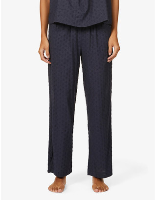 Skin Tali textured cotton pyjama bottoms