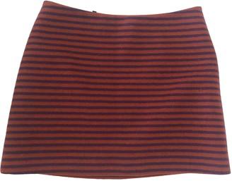 Prada Burgundy Wool Skirts