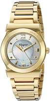 Salvatore Ferragamo Women's FI1940015 VEGA Yellow Gold Ion-Plated Watch