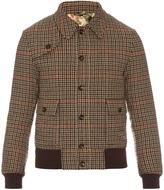 Gucci Bird-appliqué hound's-tooth wool jacket