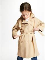 John Lewis Girls' Classic Mac Coat, Stone