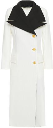 Proenza Schouler Two-tone Wool-blend Crepe Coat