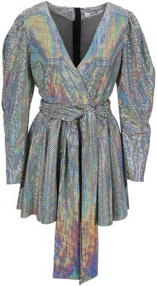 MSGM Chain Mail Wrapped Mini Dress