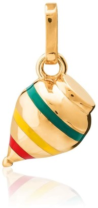Tane Exquisitely Detailed Top Charm Handmade In 18K Gold & Ceramic